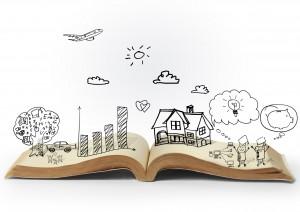 magic open book of fantasy stories